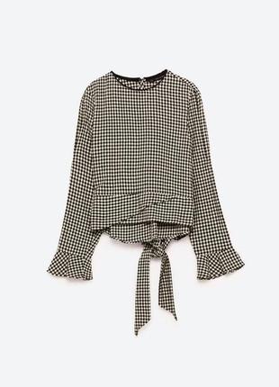 Блузка zara с открытыми плечами