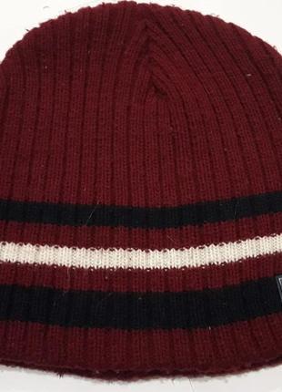 Шапка зимняя двойное вязаное полотно