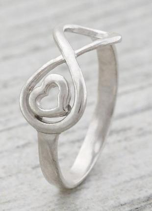 Кольцо серебро 925 пробы бесконечность 1402