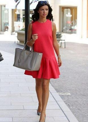 《красный мак》тренд сезона!супер платье из плотного фактурного трикотажа 48-50р1
