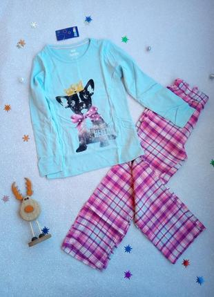 Пижама с байковыми штанами