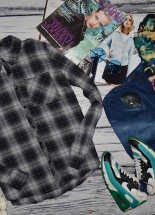 10/м очень модная натуральная фирменная фланелевая рубашка стильной девушке клетка