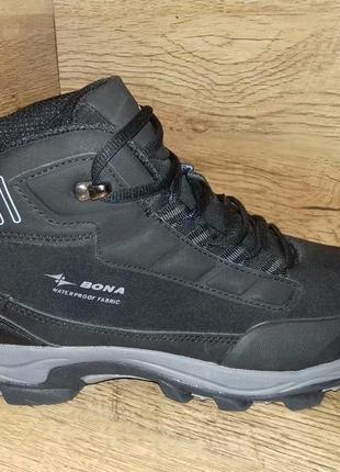 Зимние ботинки кроссовки мужские bona р. 41-46 натуральная кожа