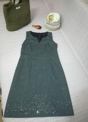 Шикарное французкое шерстяное платье сарафан caroll, р.т38, made in france
