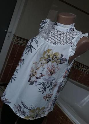 Шикарная женственная блула с цветочным узором и выкройкой