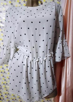 Красивая блуза в горохи* george
