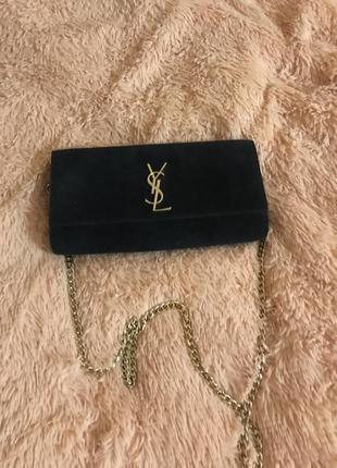 Кожаная сумка сумка кожаная на цепочке через плечо клатч