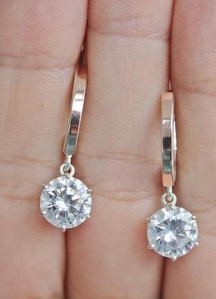 Серебряные серьги фея паола с золотом