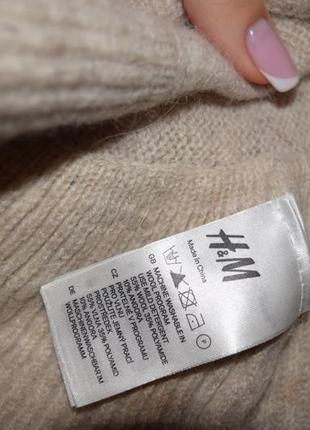 Очень красивый тёплый большой шарф h&m  с воланами5
