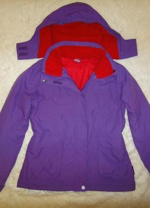 Красивая, яркая теплая куртка active tauch синтепон+флис р. 164