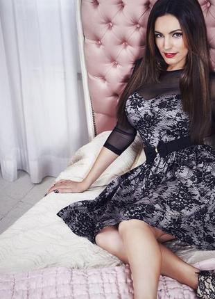 Роскошное праздничное платье от kelly brook by new look в кружеве. 14 р. новое!