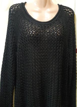 Черный свитерок сетка