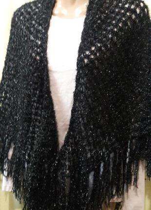Шикарный вязаный платок
