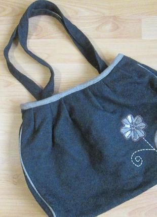 Сумка валяная, войлочная сумка, сумка из фетра, войлока, шерсти