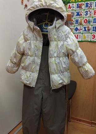 Зимний, демисезонный костюм куртка lassie by reima 86 р