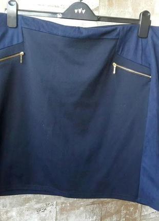 C&a. юбка стрейч прямого кроя. размер 2xl
