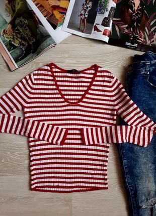 Пуловер в полоску /2я вещь в подарок