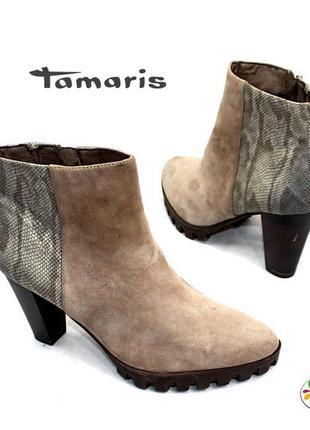 Ботинки tamaris кожа 37 р оригинал германия