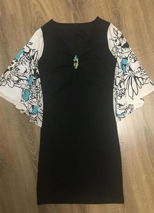 Платье чёрное мини черное