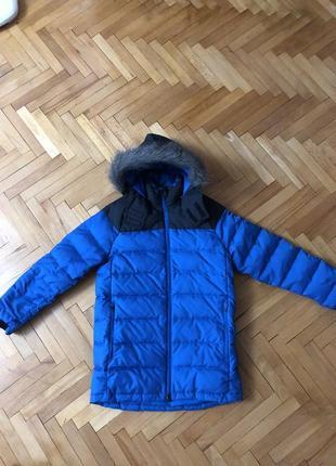 Куртка зимняя подростковая пуховик натуральный пух reebok
