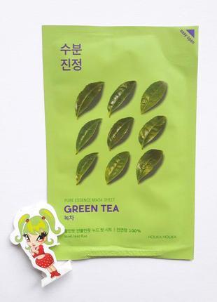 Тканевая маска с зеленым чаем holika holika pure essence mask sheet