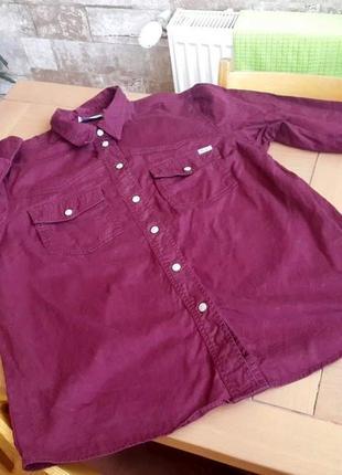John baner. джинсовая рубашка с длинным рукавом