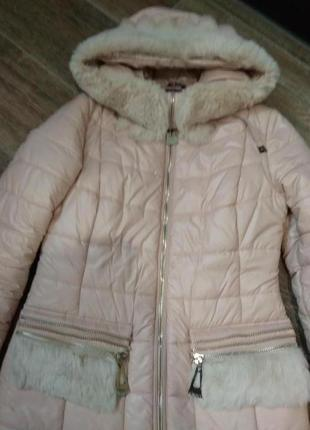 Куртка курточка пудра, зимняя x-woyz