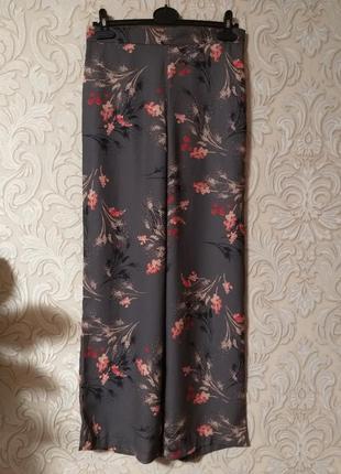 Цена снижена широкие штаны кюлоты цветочный принт uk 10-12 наш 44-46