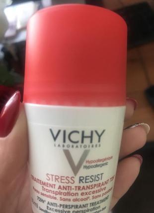 """Шариковый дезодорант """"72 часа защиты в стрессовых ситуациях"""" vichy stress resist"""