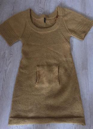 Платье-туника шерсть альпаки