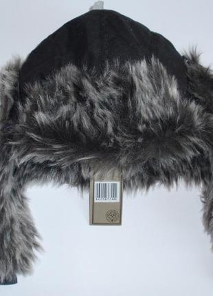 Теплая шапка ушанка на меху меховая детская подростковая бренд free authority