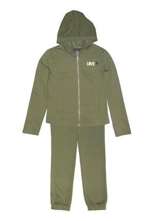 Новый зеленый спортивный костюм для девочки, original marines, 5602