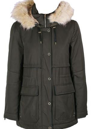 Парка zara зимняя куртка хаки