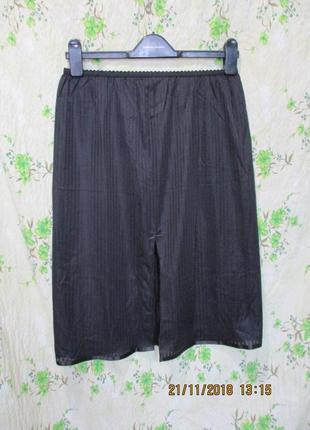 Черный подьюбник /юбка 12-14/46-48 размер