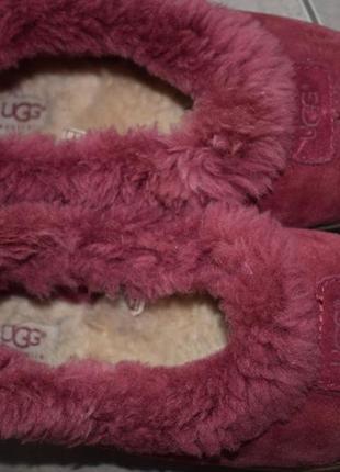 Замшевые чуни угги мокасины домашние туфли тапки ugg australia р.38 24 см