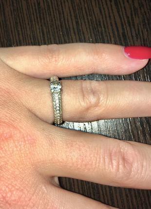 Кольцо серебряное серебро 925 проба цирконий