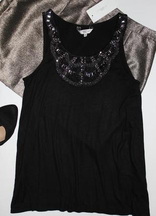 Черна блуза-майка new look р.10(38)