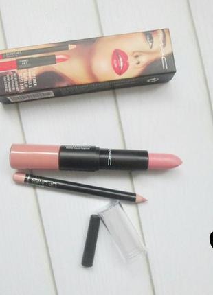 Матовая помада и матовый блеск   карандаш для губ
