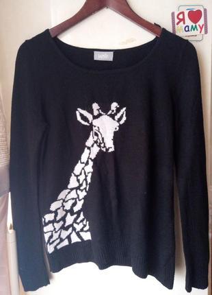 Джемпер wallis светр свитер кофта з жирафом