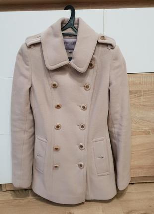 Пальто женское шерстяное бежевое vivalon 42 xs