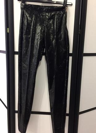 Лосины брюки лаковые виниловые bershka