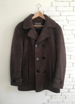 Шерстяное мужское пальто, димнесезонное, зимнее пальто