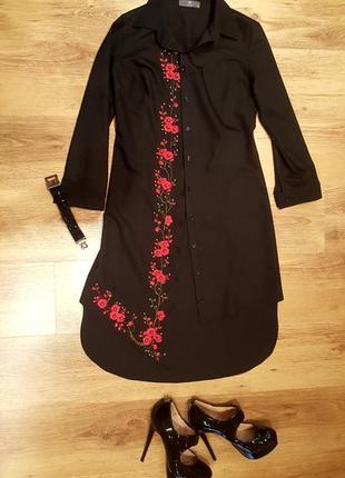 Шикарное нарядное платье фрак вишитое