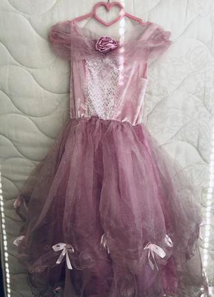 Новогоднее карнавальное платье 6-8 лет