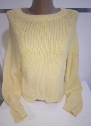Желтый укороченный свитер calliope m