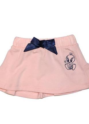 Новая персиковая юбка на байке для девочки, original marines, 15081