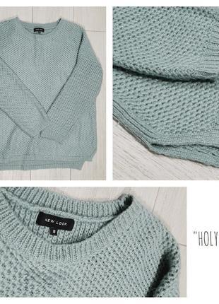 Крутой свитер,джемпер,кофта цвета перечной мяты от new look,p.8