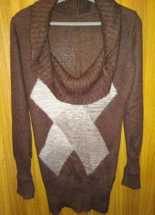 Туника свитер платье мохер шерсть