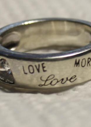 Стильное кольцо серебро 925   love morgan, оригинал 16р
