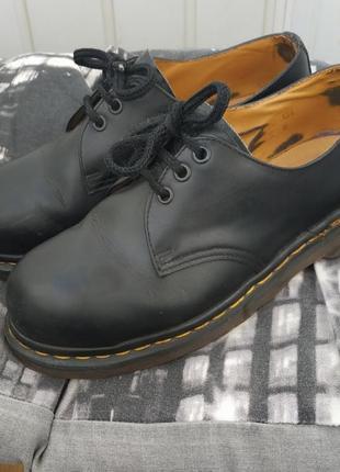 Ботинки короткие dr. martens кожа оригинал
